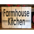 "Farmhouse Kitchen Sign 11.5"" x 16.5"""